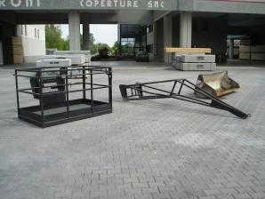 Cesta portapersone - Dimensioni 1,20 mt x 2,00 mt portata 365 kg (3 persone)